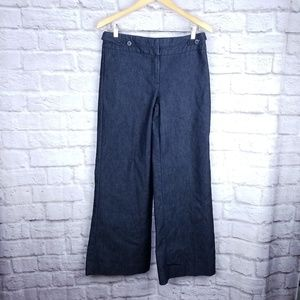 Kenneth Cole Reaction size 8 wide leg jeans dark